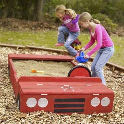 Фото детских площадок своими руками из дерева на даче