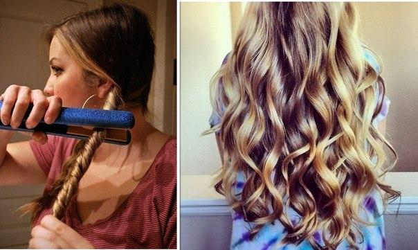 Как сделать кудри на длинные тонкие волосы