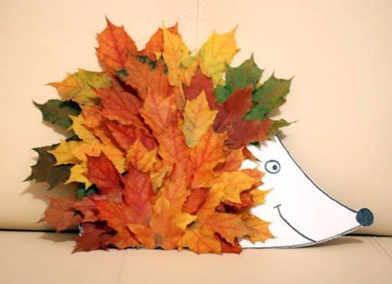 Аппликации из листьев своими руками фото