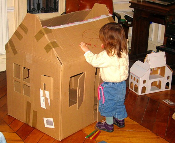 Домик для детей своими руками в квартире фото