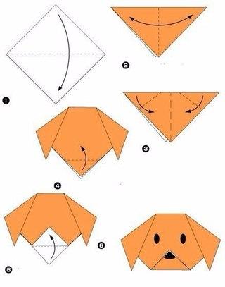 Простые схемы оригами 🐼