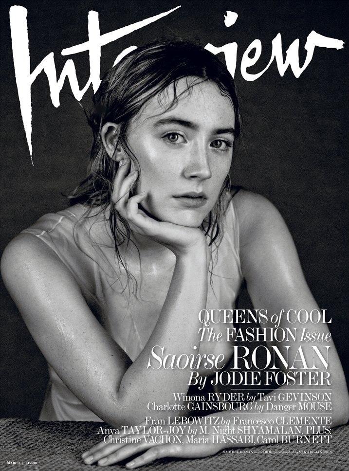 Номинантка на Оскар Сирша Ронан (Saoirse Ronan) украсила обложку мартовского Interview Magazine. Актриса позировала Микаэлю Янссону (Mikael Jansson).