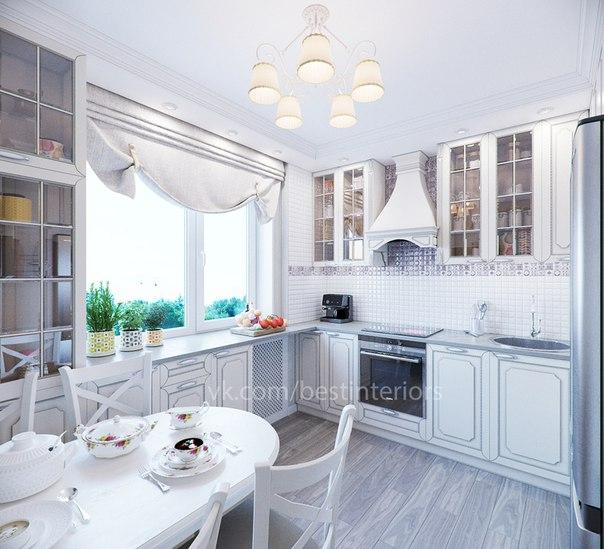 Маленькая кухня в классическом стиле (3 фото)