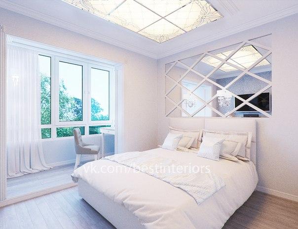 маленькая спальня с компьютерным столиком на присоединенном балконе… (3 фото) - картинка