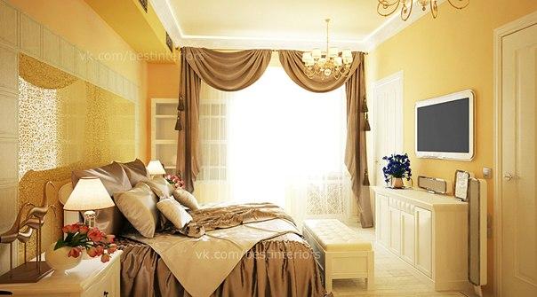 Спальня в золотистых тонах (3 фото) - картинка