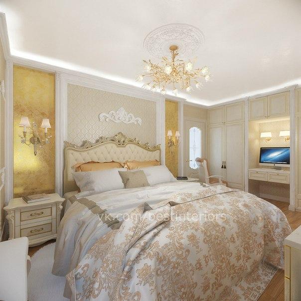 Спальня в классическом стиле (4 фото) - картинка