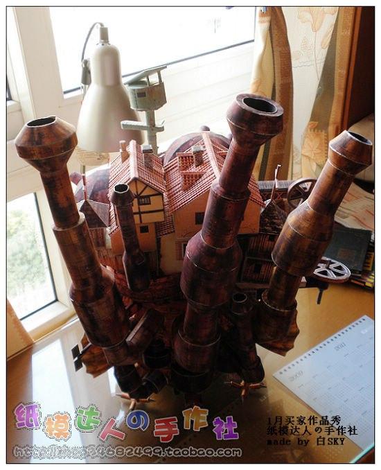 3D пазл-модель Ходячего замка Хаяо Миядзаки