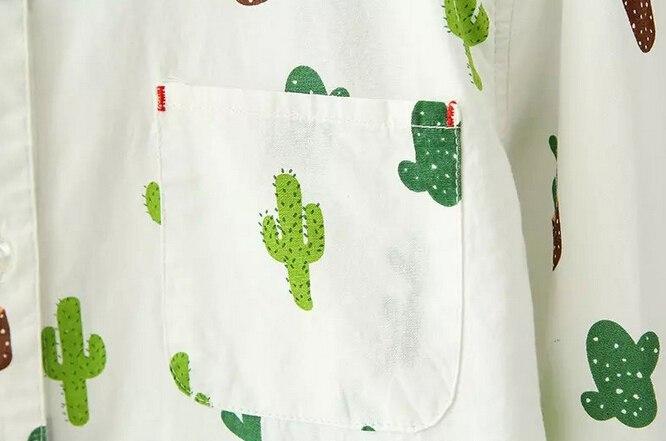 Рубашка с кактусами