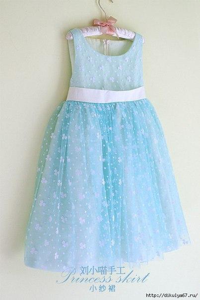 Шьем нарядное платье для девочки. (9 фото) - картинка
