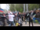 ДОНЕЦК! Разгон сторонников единой Украины! 28.04.2014