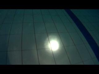 04.03.14 бассейн - ночь с Тримиксом . Свет выключается в бассейне