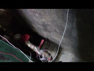 Шахтный котел на опилках испытания