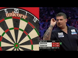Gary Anderson vs Robert Thornton (2014 Premier League Darts / Week 12)