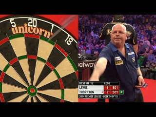 Adrian Lewis vs Robert Thornton (2014 Premier League Darts / Week 14)