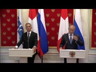 Заявления для прессы и ответы на вопросы журналистов по итогам встречи с Президентом Швейцарии, действующим председателем ОБСЕ Дидье Буркхальтером