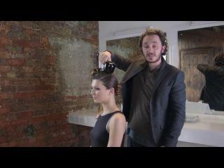 Причёска с помощью плойки-автомат
