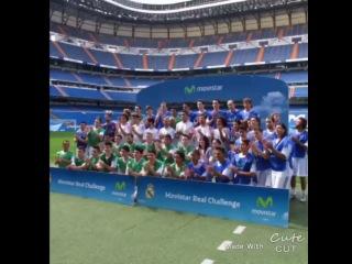 Pepe, Varane, Marcelo, Jesé, Diego López, X.Alonso, Isco y Morata estuvieron enseñando a los asistentes técnica, hablando con ellos y firmando autógrafos.
