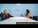Nikki Benz is interrogated by Kirsten Price - hot lesbian porn