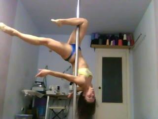 Pole dance. Уроки танцев. Элемент 'Sexy Flexy' с переходом в  'Журавлик'  ('Shadoof').mp4