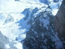 Италия.Доломиты.Спуск на телекабине с площадки Passo Pordoi 2950 m.