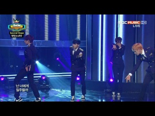 140319 MBC Show Champion Opening Stage - B.A.P (Yongguk Zelo), BTS (Rap Monster SUGA), Topp Dogg (Kidoh Jenissi) Special Stage BTS – This Love T.O.P.