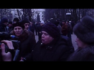 Пенсионерка из Луганска о Яценюке. ЯЦЕНЮК - УБИЙЦА!20 марта 2014 г.