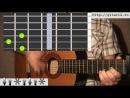 урок на гитареесть красивая одна девушка на земле