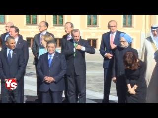 Recep Tayyip Erdoğan at G20 in Petersburg