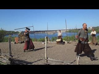 о.Хортица инсценировка казаков в бою