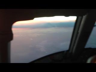 Закат из кабины самолета 2