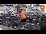 Парень решил разыграть народ в спортзале и заснять их реакцию на видео.