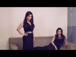 Мадхури Дикшит м Джухи Чавла, съемки для журнала Filmfare