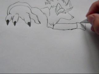 Как я рисую фурри !