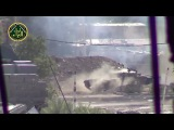 Сирия. Танк, выстрел и редкое видео летящего снаряда