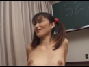 Avmost Japanese schoolgirl in pigtail finger