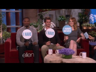 'The Amazing Spider-Man 2' Cast Plays Never Have I Ever