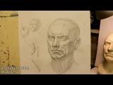 Обучение рисунку. Портрет. 14 серия построение гипсовой головы и вопросы светотени