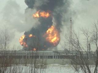 Взрыв на завод синтетического каучука Омск ....06.03.2014