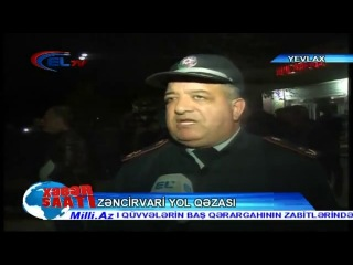 Azərbaycanda üç avtomobil toqquşdu