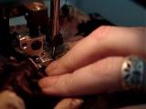 Пришивание пояса к основанию юбки