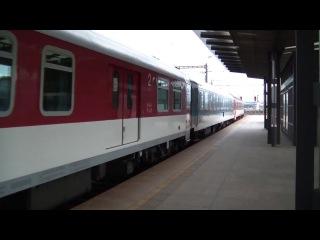 Vlaky ve stanici Praha hlavni nadrazi, 11.09.2013