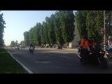 Открытие мото сезона в  городе москва наше видео 2014.