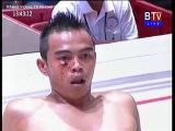Камбоджиец (кр) против тайца (син). Не бой, а казнь локтями.