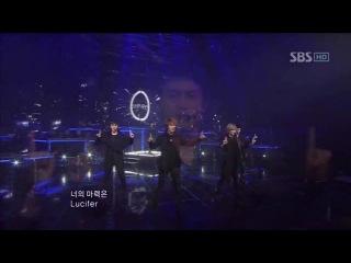 [2010.12.19] SHINee - Hello + Lucifer @SBS Inkigayo