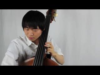 Mozart e minor Violin Sonata K.304, on a 5ths tuning Bass - Tomoya Aomori