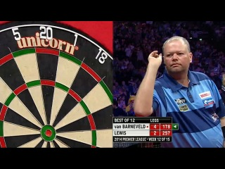 Raymond van Barneveld vs Adrian Lewis (2014 Premier League Darts / Week 12)