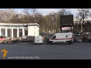 Робітники знаходять на даху колонади «Динамо» дробини від стріляних набоїв