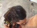True sloppy girl Regan Reese gives a deepthroat