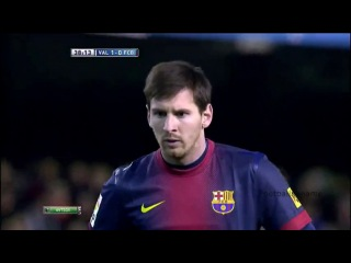 Лионель Месси видео гол Валенсия - Барселона Чемпионат Испании по футболу 22 тур Footballername