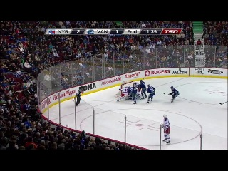 NHL 2013-2014. Regular Season. New York Rangers at Vancouver Canucks 01/04/2014 (2)